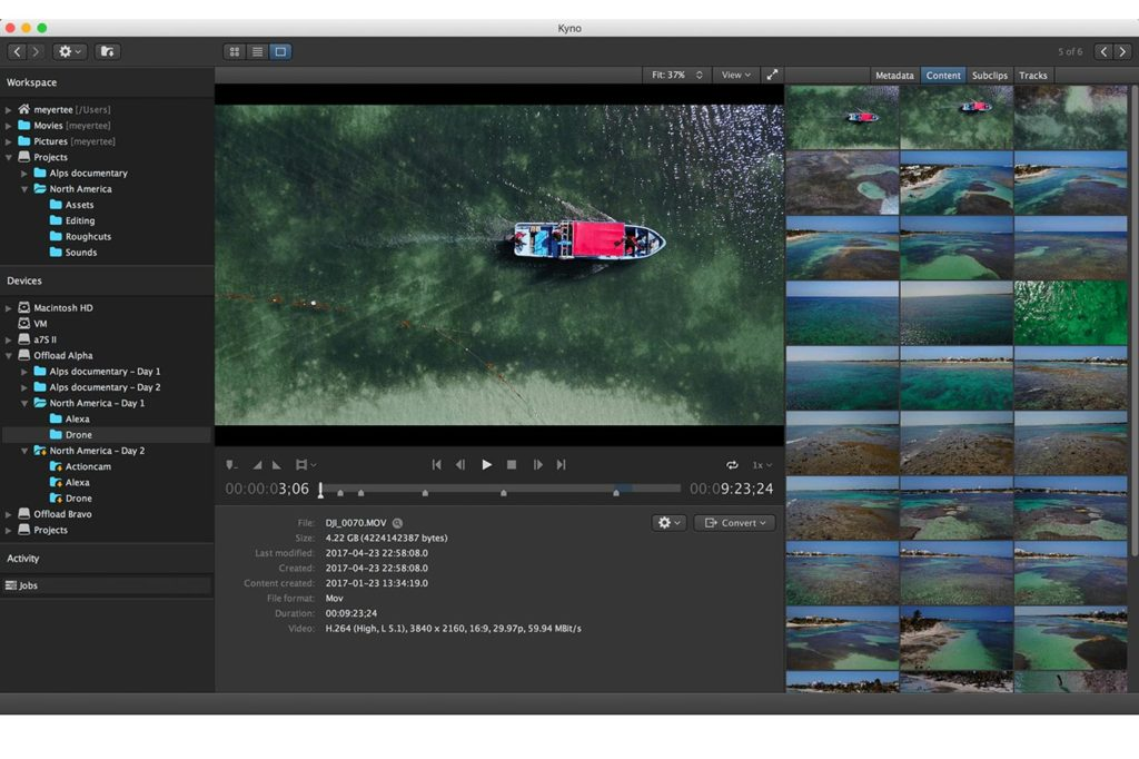 Kyno 1.8: now with DaVinci Resolve and Avid Media Composer integration