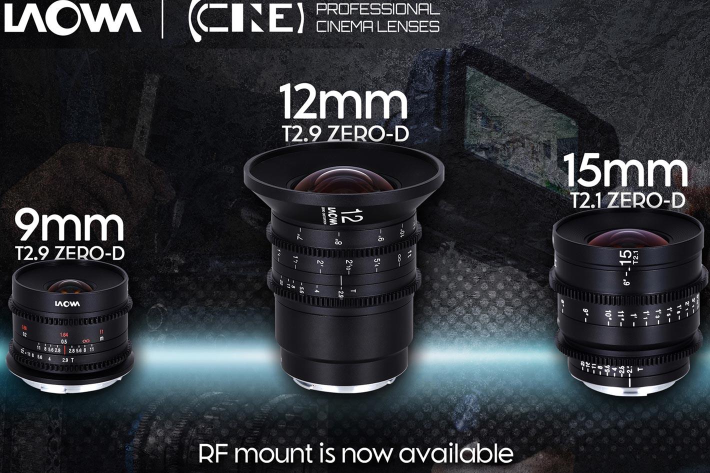 Three new Laowa cinema lenses for Canon RF mount