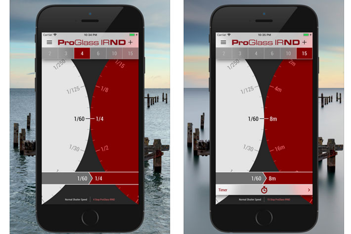 LEE Stopper and ProGlass IRND filters: free exposure calculators