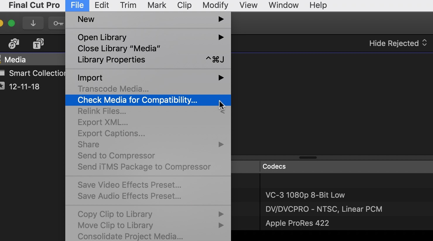 Final Cut Pro X updated to 10.4.6 to deal with Legacy Media 16