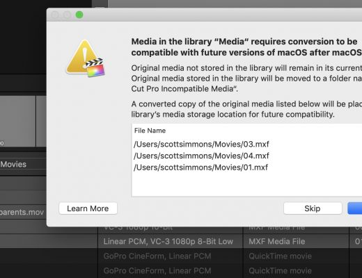 Final Cut Pro X updated to 10.4.6 to deal with Legacy Media 18