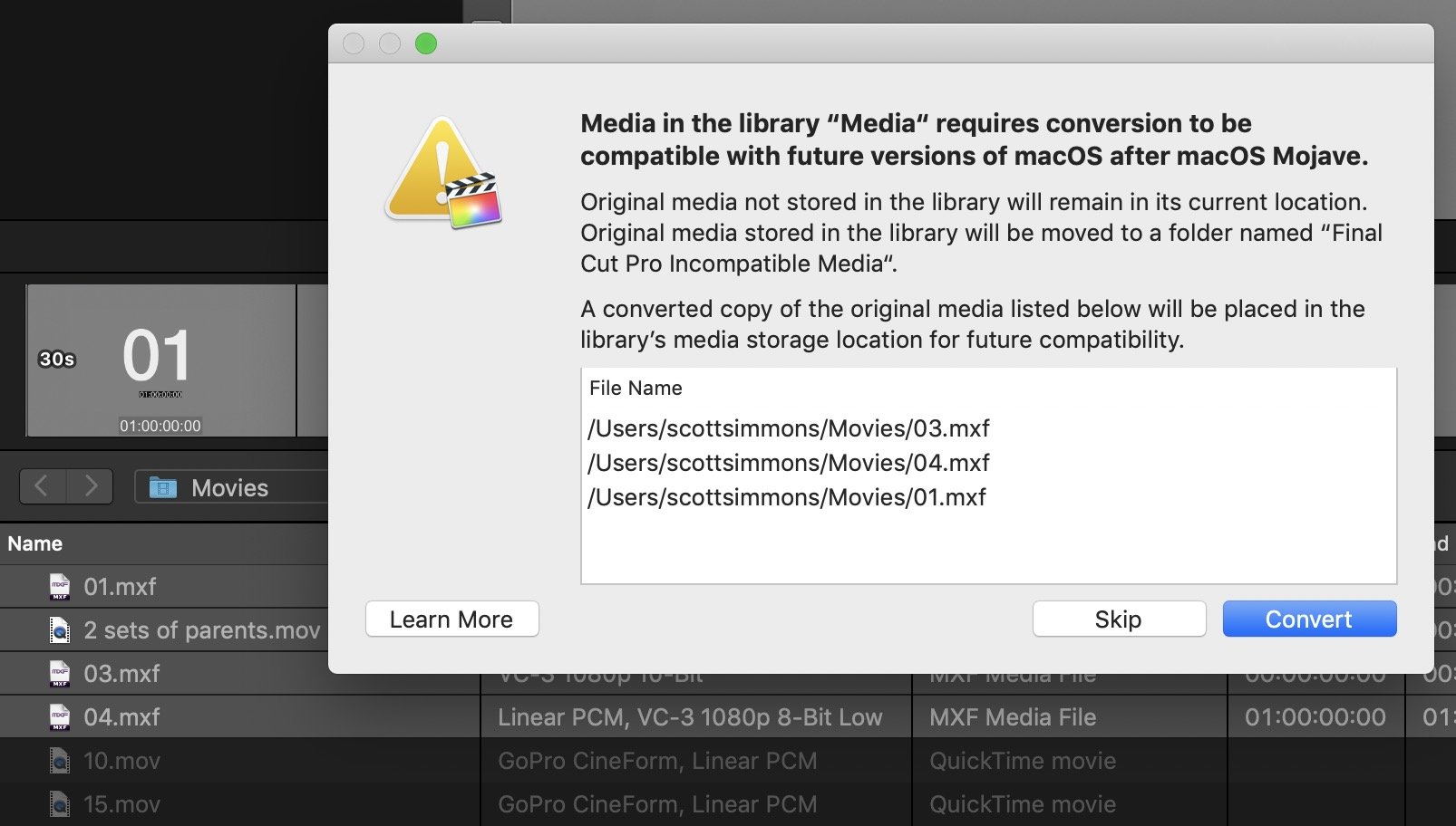 Final Cut Pro X updated to 10.4.6 to deal with Legacy Media 13