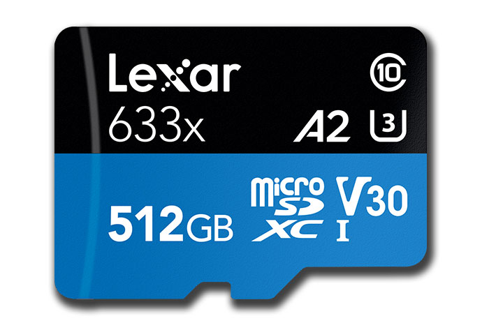 Lexar announces world's largest A2 microSD card for smartphone filmmakers