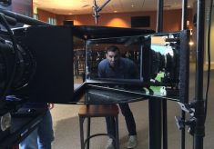 Location Interview Lighting Tips: HMI Lights & Looking into the Lens