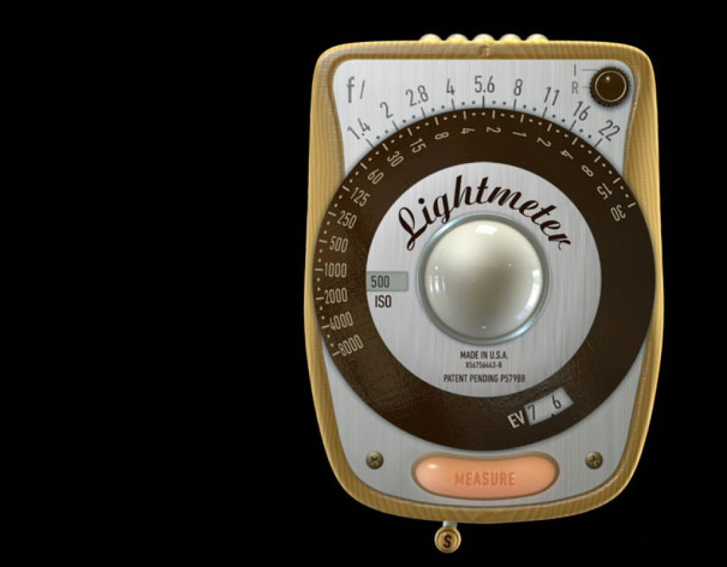 A retro lightmeter for Android and iOS smartphones