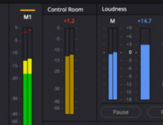 DaVinci Resolve 16 adds LUFS audio loudness standards + linear features. 79