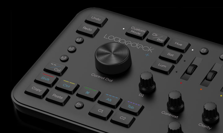loupedeck+ plus photo editing console and lightroom keyboard