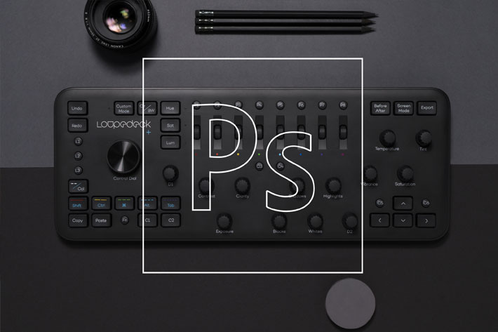 Loupedeck+ integrates with Photoshop