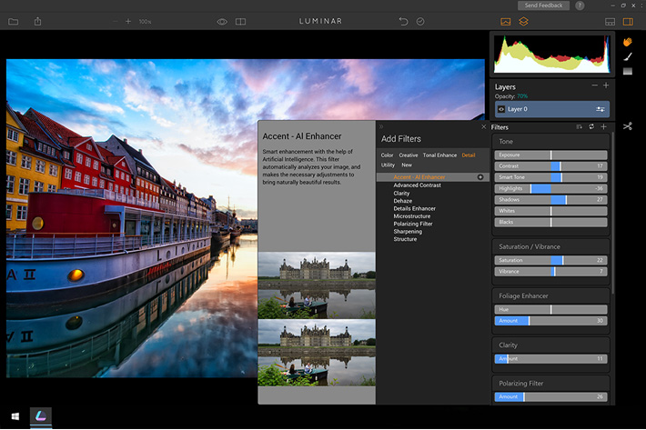 Luminar: beta version available for Windows