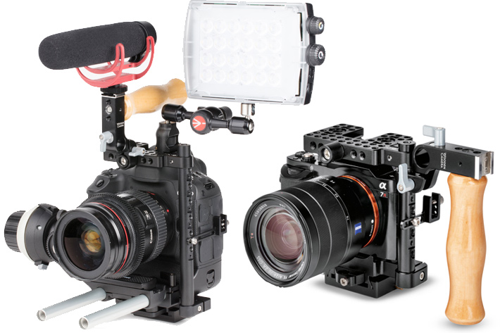 A new Camera Cage from Manfrotto and Wooden Camera