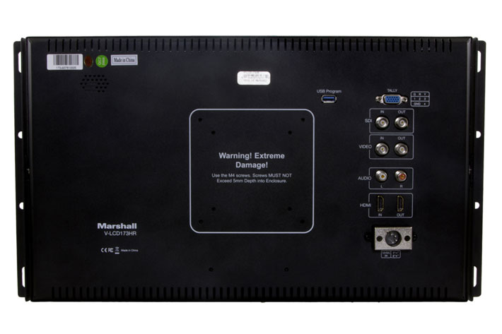 Marshall V-LCD173HR: a new production monitor with audio analysis