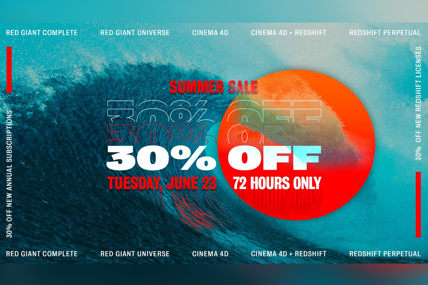Maxon, Red Giant and Redshift: the blowout Summer Sale