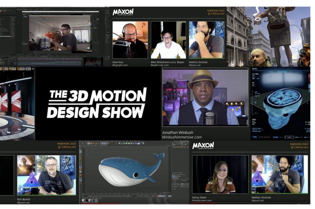 Maxon announced its virtual events calendar for 2020