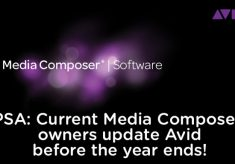 PSA: Current Avid Media Composer owners upgrade to v8 before the end of the year