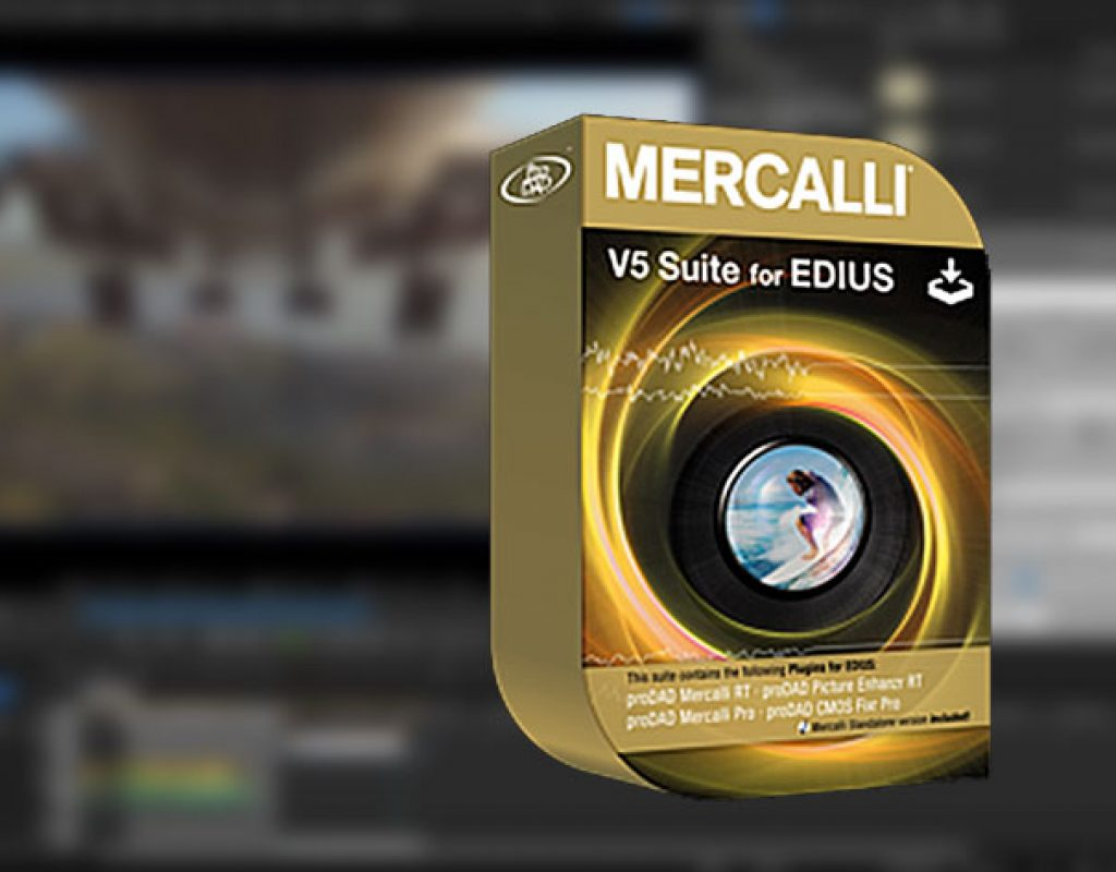 Mercalli V5 Suite for EDIUS: real-time video stabilization and image optimization