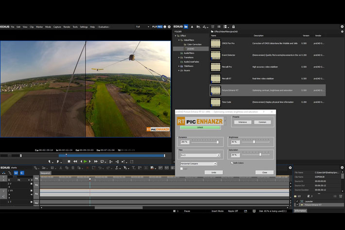 Mercalli V5 Suite for EDIUS: now with real-time video stabilization 1