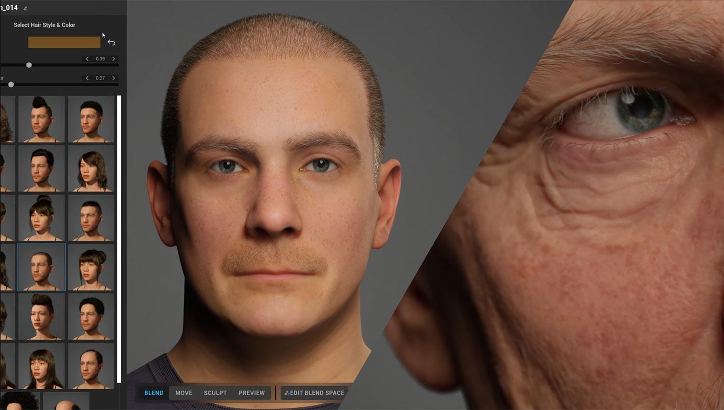 MetaHuman Creator: high-fidelity digital humans in minutes