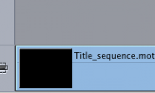 Rendering Motion Projects in Final Cut Pro