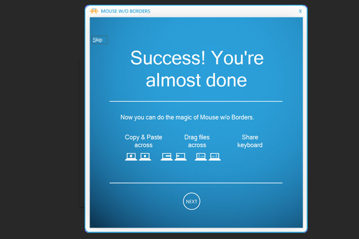 Mouse without Borders: free control for up to 4 computers