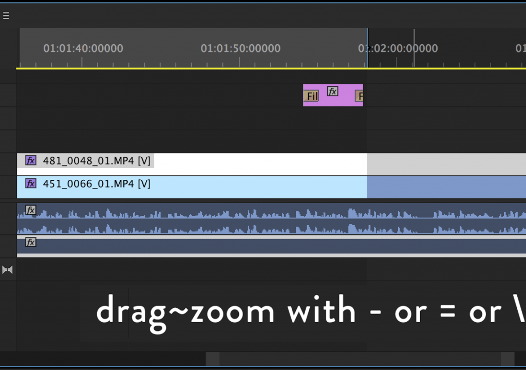 Premiere Quicktip: Zoom while dragging 1
