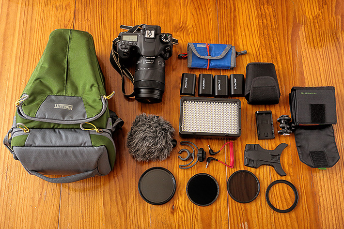 A holster to carry a whole DSLR video kit