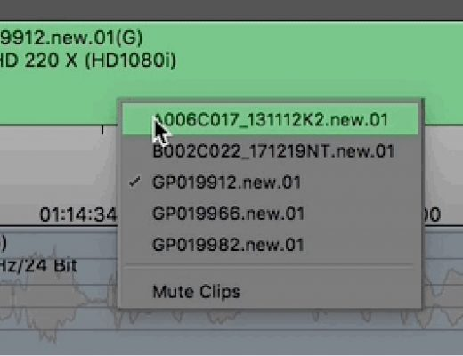 Day 5 #28daysofQuickTips 2018 - Mute Clips in the Media Composer timeline 7
