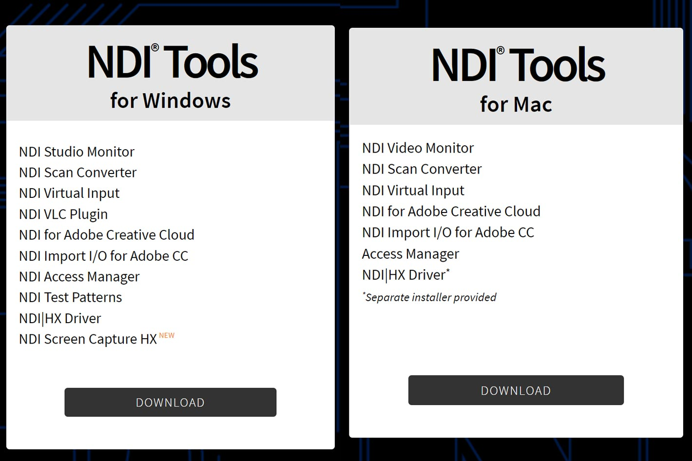 NDI tool eliminates the need for video capture cards