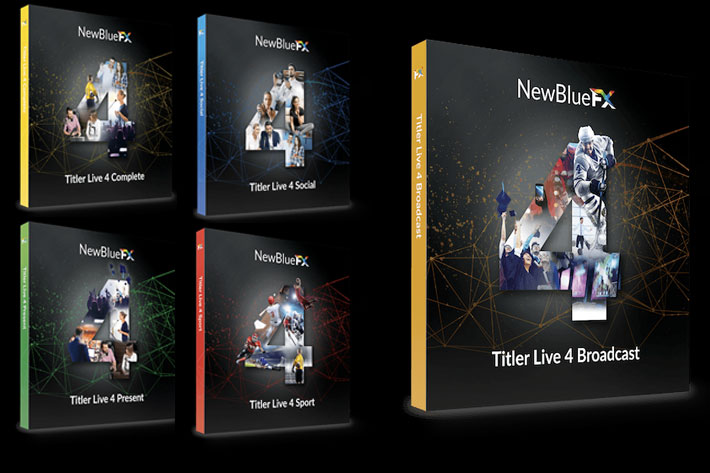 NewBlue announces Titler Live 4 for live streaming and broadcast