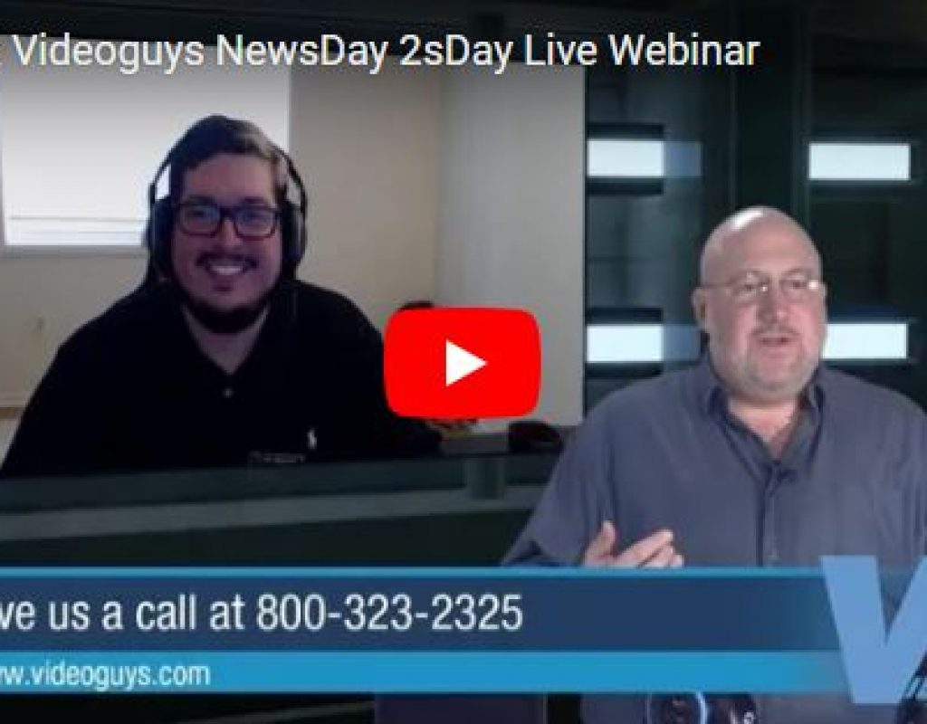 Videoguys Action-Packed Live Webinar on NewTek TriCaster Mini Advanced and more 1