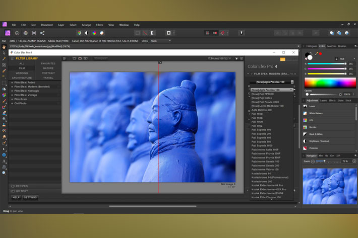 Nik Collection 2.5: new color films and compatibility with Affinity Photo