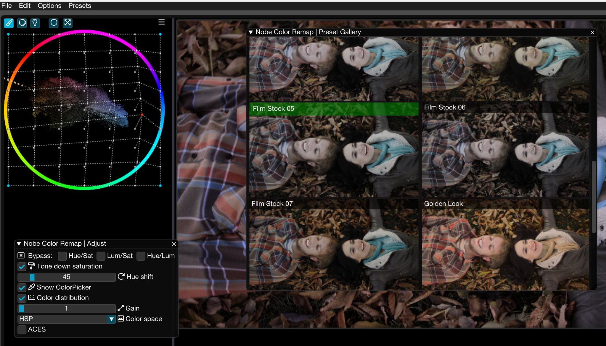 Nobe Color Remap for all your post-production tools. The original Color Warper 7