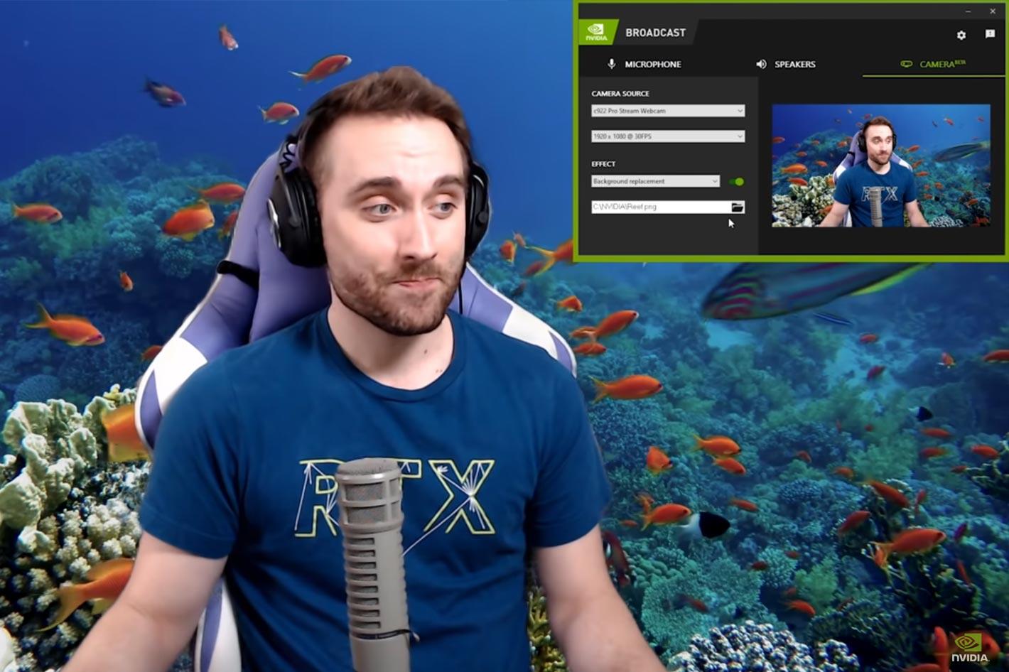 NVIDIA Broadcast: stream like a pro… from home
