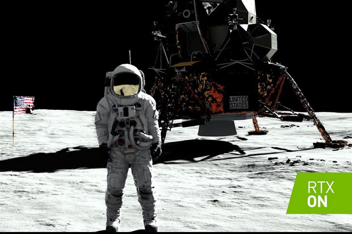 Motion capture at SIGGRAPH 2019: go to the Moon with NVIDIA's RTX demo 1
