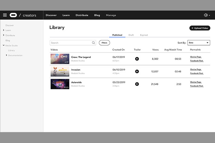 Oculus Media Studio: a new sharing content tool for immersive creators 2