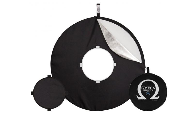 Omega Reflector 360: a foldable ring light
