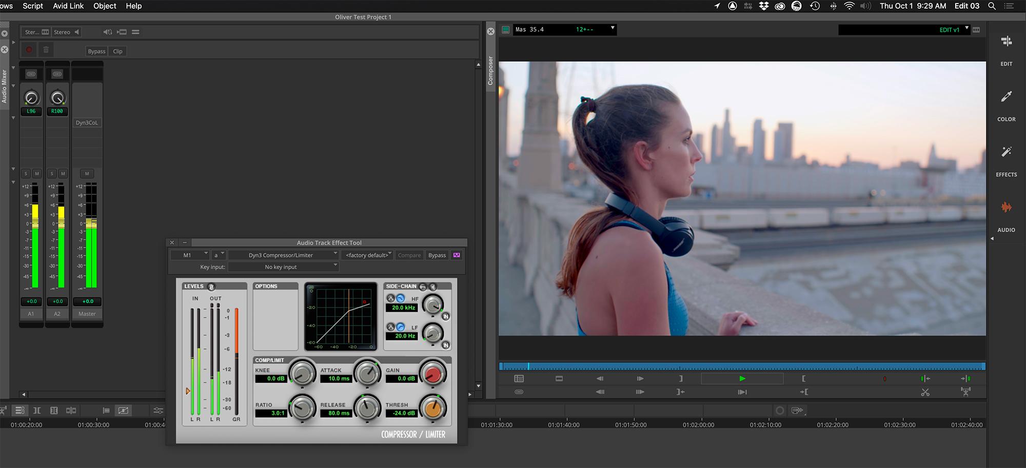 Avid Media Composer audio plug-ins