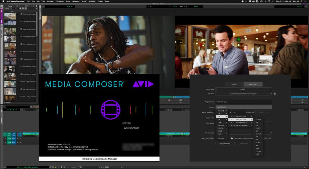 Avid Media Composer editing NLE