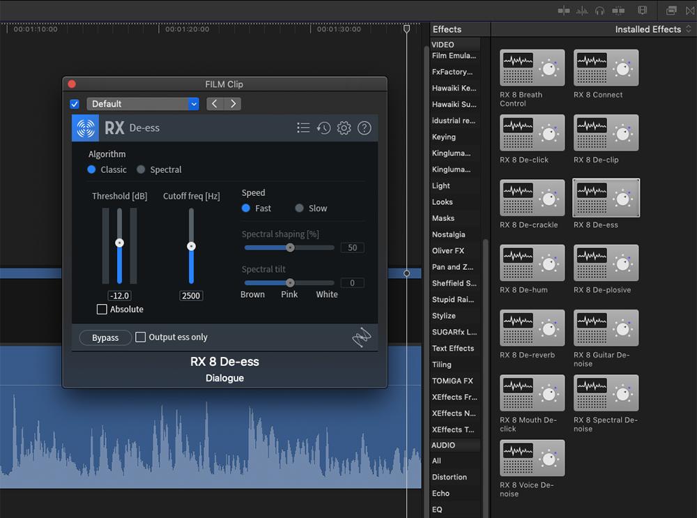 iZotope RX 8 in Final Cut Pro X