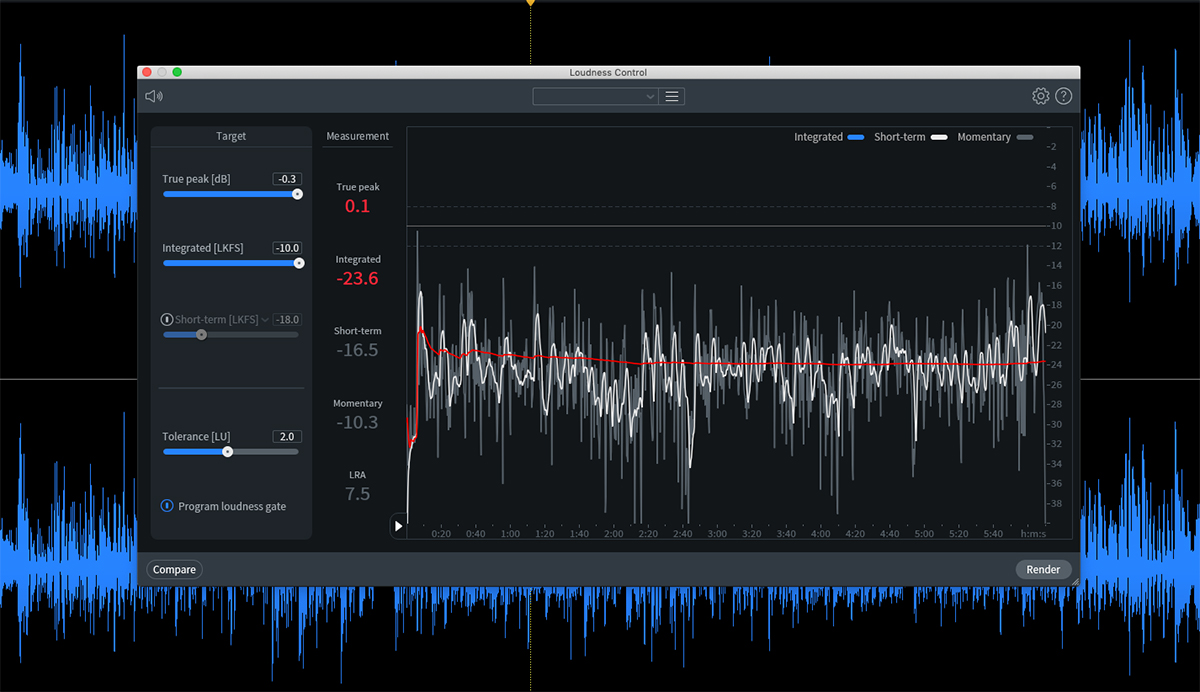 iZotope RX 8 loudness