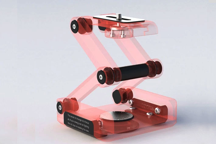 ORTAK Skate 3D: 3D print your own tabletop dolly and tripod head 5