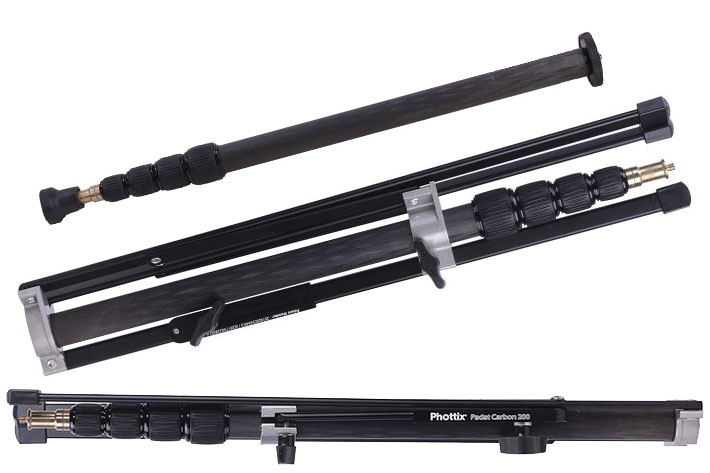 Phottix Padat Carbon 200: a light stand, monopod and boom