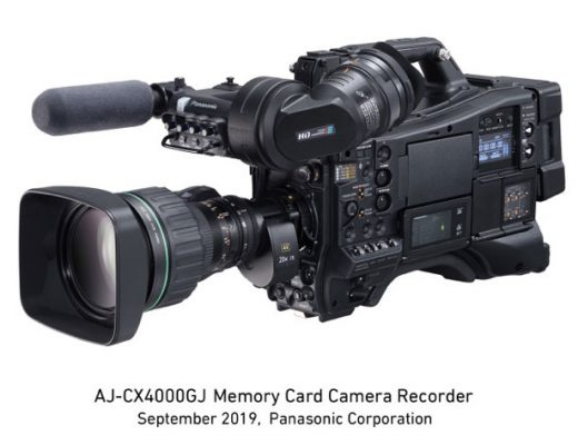 Panasonic AJ-CX4000GJ, a broadcast shoulder mount 4K camera recorder
