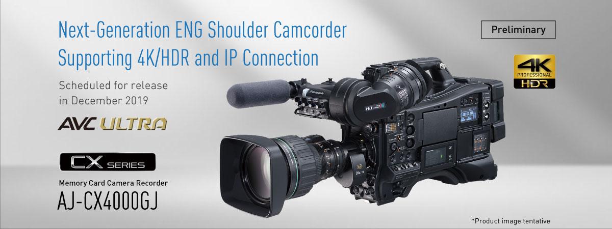 Panasonic AJ-CX4000GJ, a broadcast shoulder mount 4K camera recorder 1