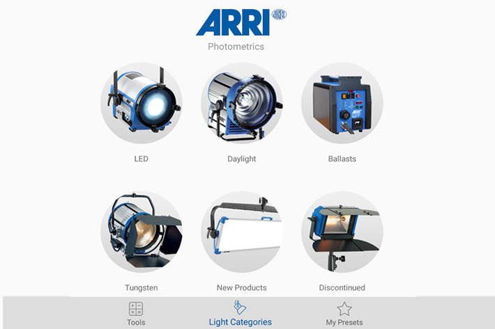 Photometrics: all the information about ARRI products inside a