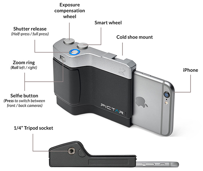 Pictar One: a camera grip for your iPhone