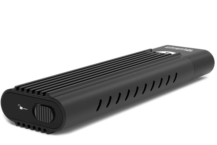 Plugable USB-C NVMe Enclosure, the first with a tool-free design