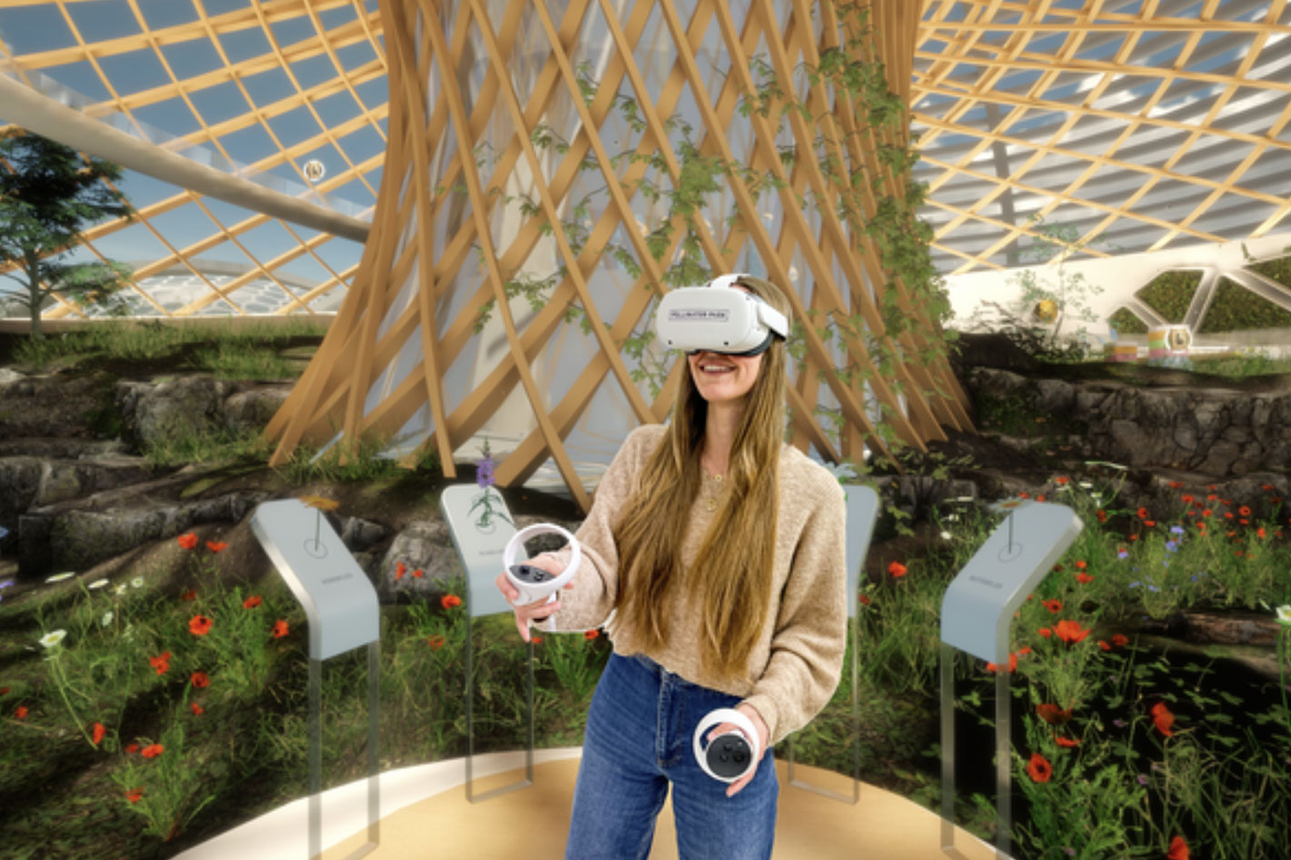 Pollinator Park: using Virtual Reality to help pollinating insects