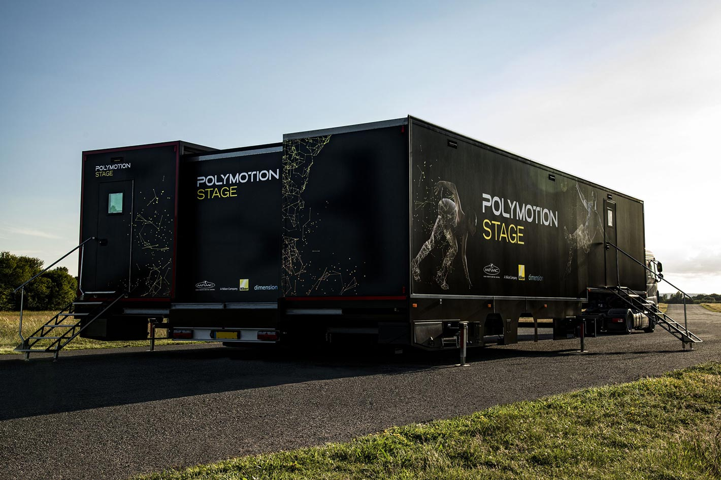 Polymotion Stage Truck: world's first volumetric studio on wheels