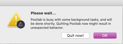 Postlab quit