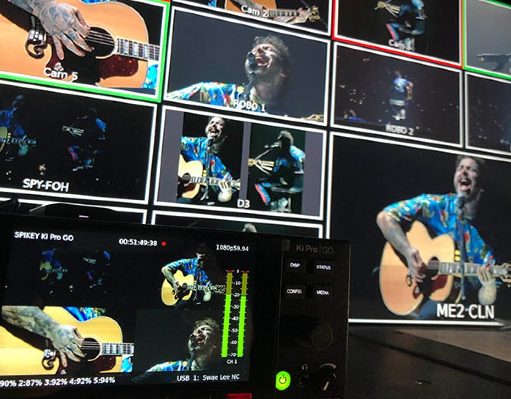 Post Malone concert tour recorded using Ki Pro GO and other AJA gear 1